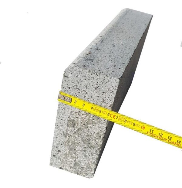Bordura andezit mica , Terragrey Light, LLx15x6 cm, semibaston