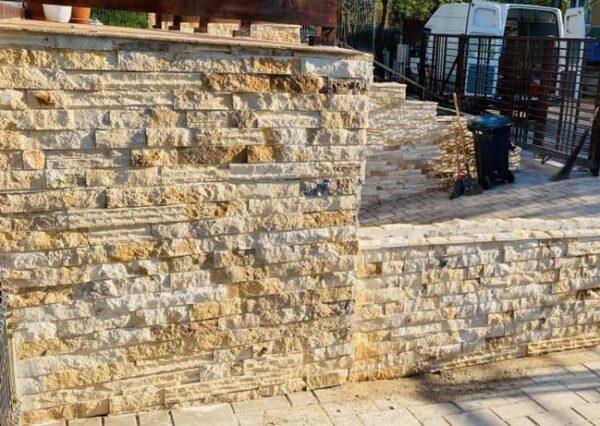 Piatra naturala - scapitat calcar Vistea pentru pereti, garduri, soclu