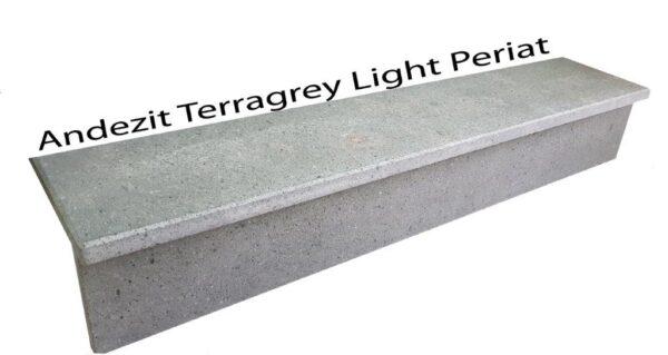 Trepte si contratrepte Andezit Terragrey Light Periat