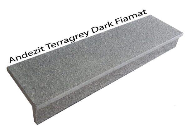 Trepte si contratrepte andezit Terragrey Dark Fiamat