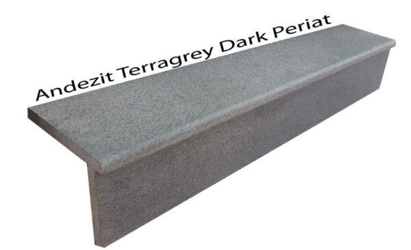 Trepte si contratrepte andezit Terragrey Dark Periat